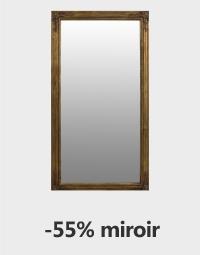 Grand miroir rectangulaire doré