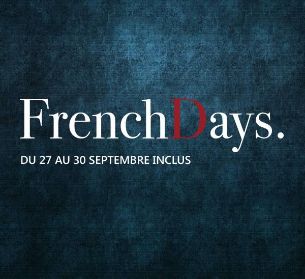 French Days du 27 au 30 septembre inclus
